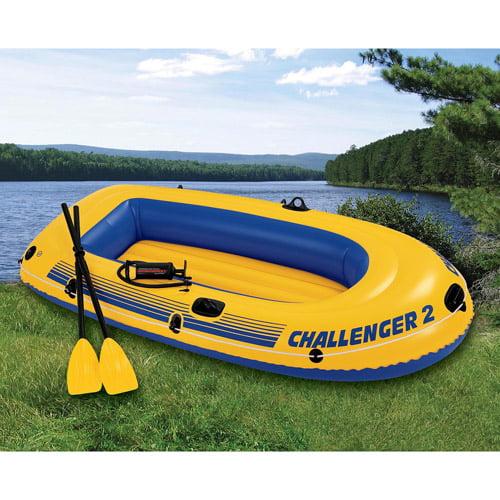 Intex 2-Person Challenger Boat Set, Yellow by Intex