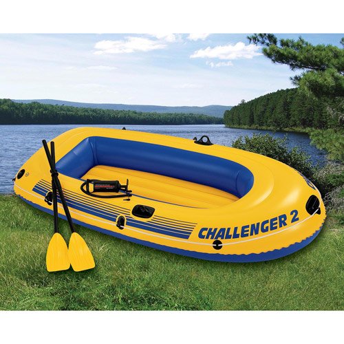 Intex 2-Person Challenger Boat Set, Yellow