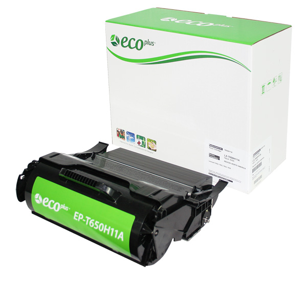 ECOPlus ™ Remanufactured Toner Cartridge for Lexmark T650H11A, T650H21A (Premium Quality TONER CTG, BLACK, 25K HIGH YIELD)