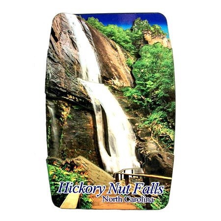 Hickory Nut Falls North Carolina 3-D Artwood Fridge Magnet ()