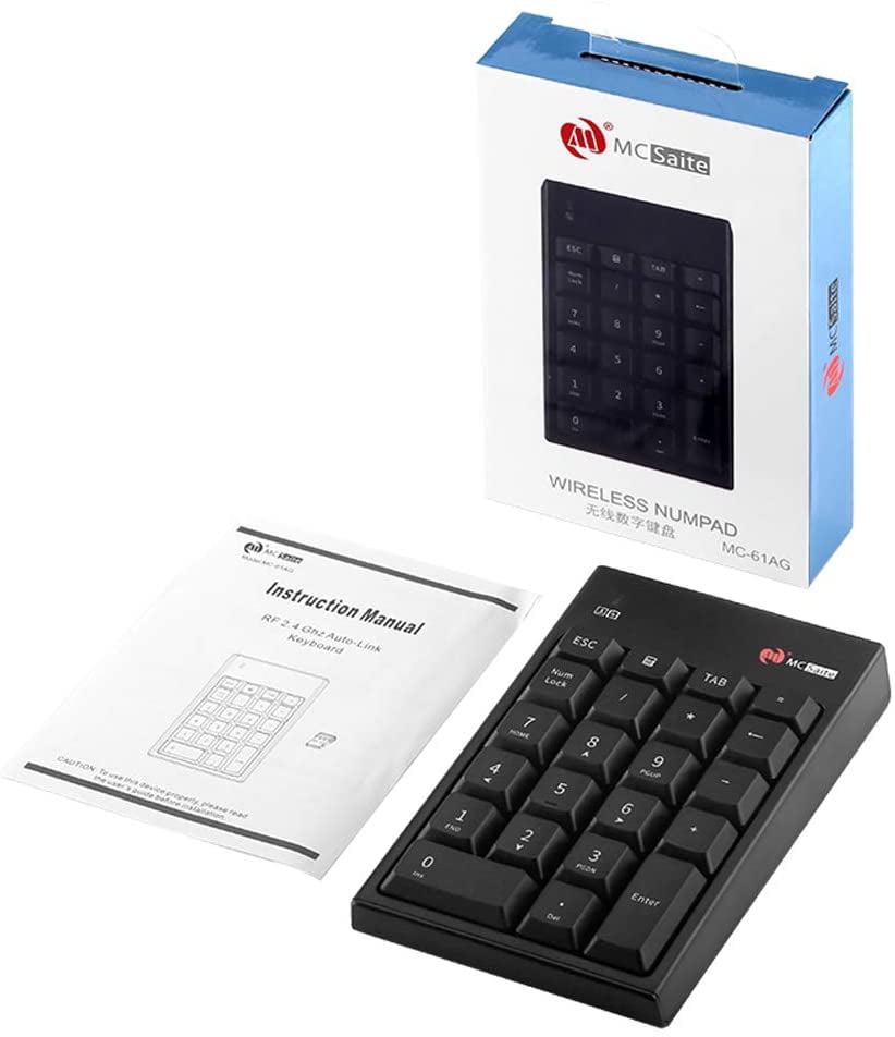 Full Size 22 Keys Big Print Letters Numeric Keypad for Laptop Wireless Tab Key Feature USB