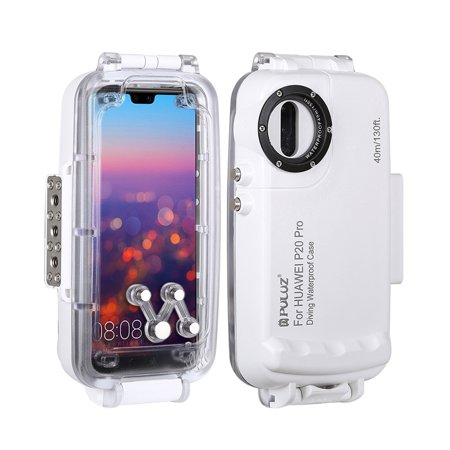 huge selection of 53b99 20ed7 PULUZ 40m/130ft Diving Waterproof Case Smartphone Protective Cover  Underwater Housing Case Shock-proof 360° Full Protection for Huawei  P20/Huawei P20 ...