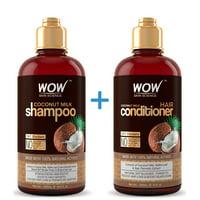 WOW Coconut Milk Shampoo + Conditioner - Nourishing Moisture - 500ml