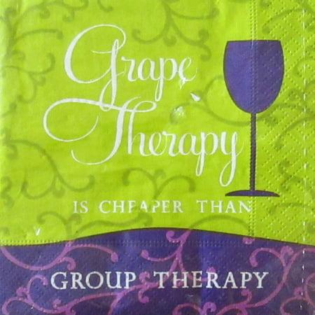 Bachelorette Party 'Grape Therapy' Small Napkins (20ct) (Bachelorette Napkins)