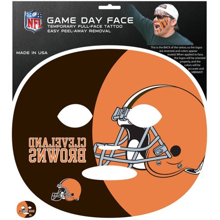 NFL Cleveland Browns Game Day Face Temporary Tattoo (Tattoos Games)