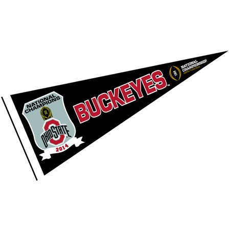 Ohio State Buckeyes 2014 National Champions 12  X 30  Felt College Pennant
