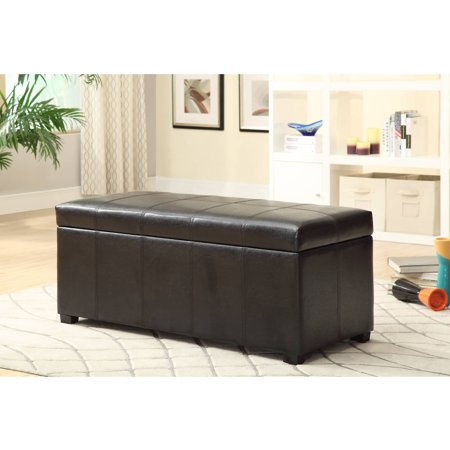 furniture of america murry bedroom bench brown