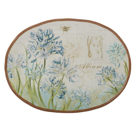 Herb Blossoms Oval Platter 16