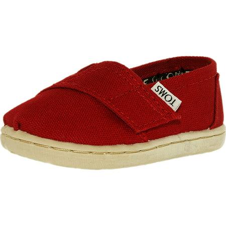 Toms Boy's Classic Canvas B Ankle-High Canvas Flat Shoe](Infant Toms On Sale)