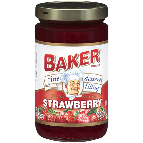 Baker Strawberry Fine Dessert Filling, 10 oz