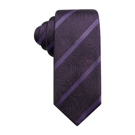 Alfani Mens Striped Self-tied Bow Tie aqua One Size - image 1 de 1