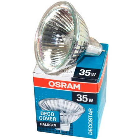 OSRAM 44892 DECOSTAR 35 35W 12V 36° GU4 BI PIN HALOGEN BULB MR11 WITH UV FILTER Baffle Filters Halogen Lights