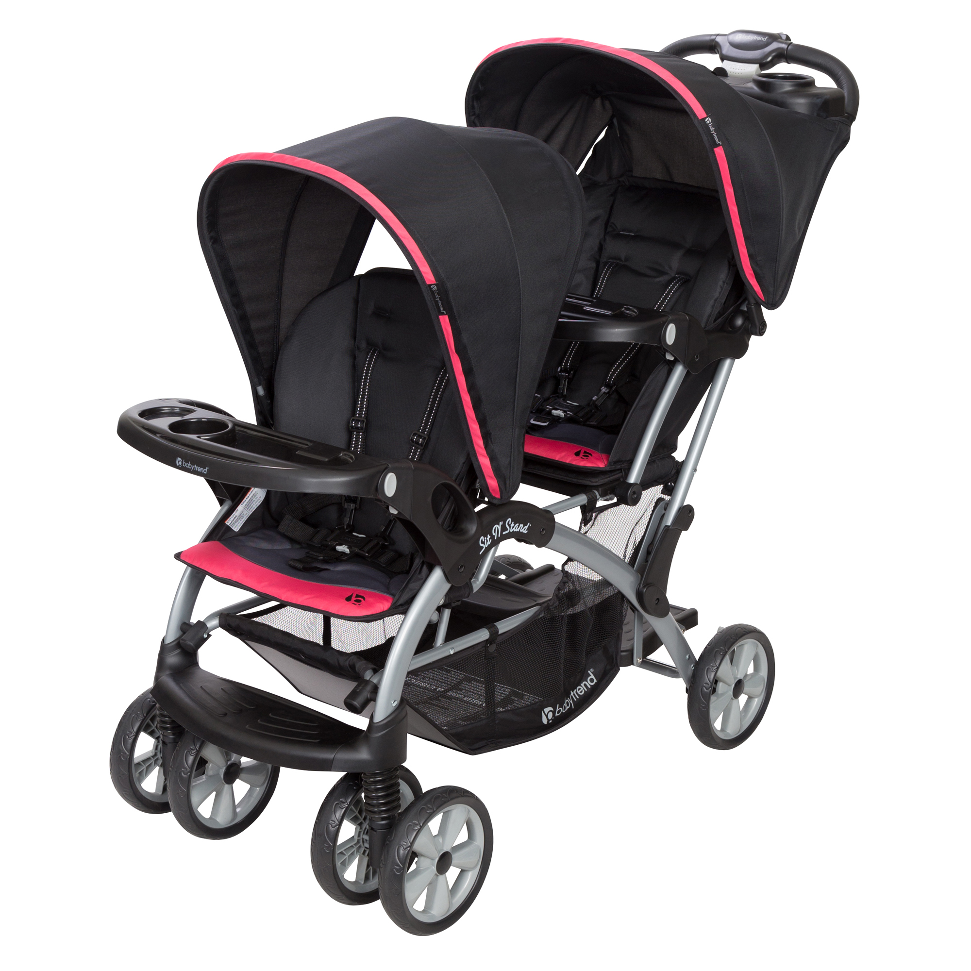 Baby Trend Sit N' Stand® Double- Optic Pink