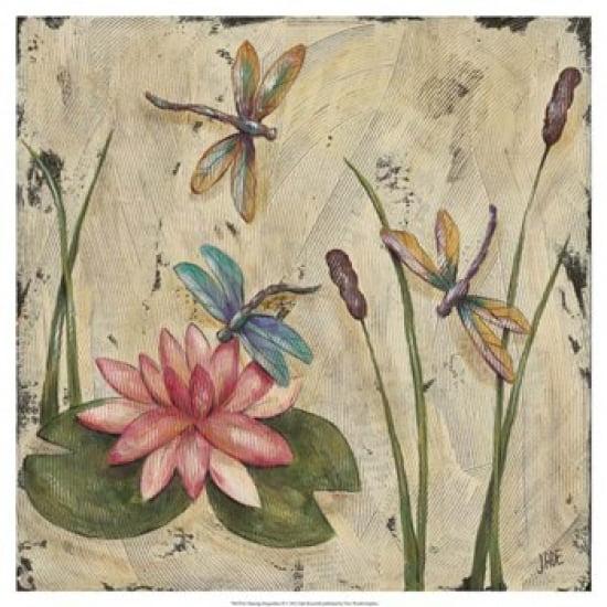 Dancing Dragonflies II Poster Print by Jade Reynolds (19 x 19)
