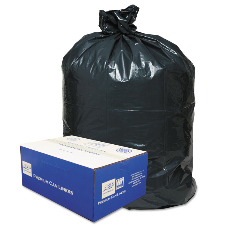 2-Ply Low-Density Can Liners, 30gal, .71 Mil, 30 X 36, Black, 250/carton