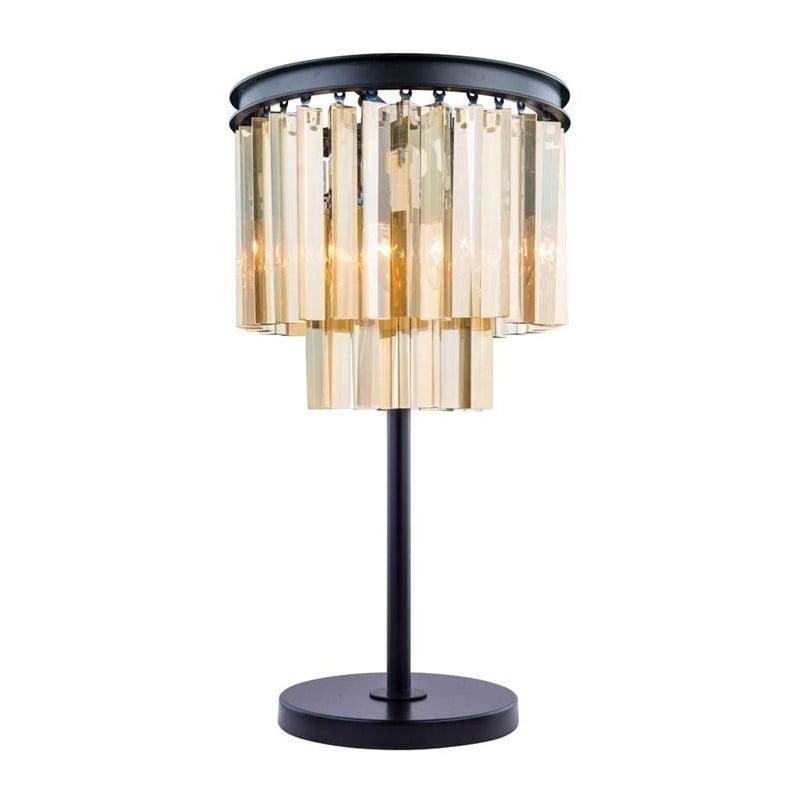 "Elegant Lighting Sydney 26"" 3 Light Royal Crystal Table Lamp - image 1 of 1"