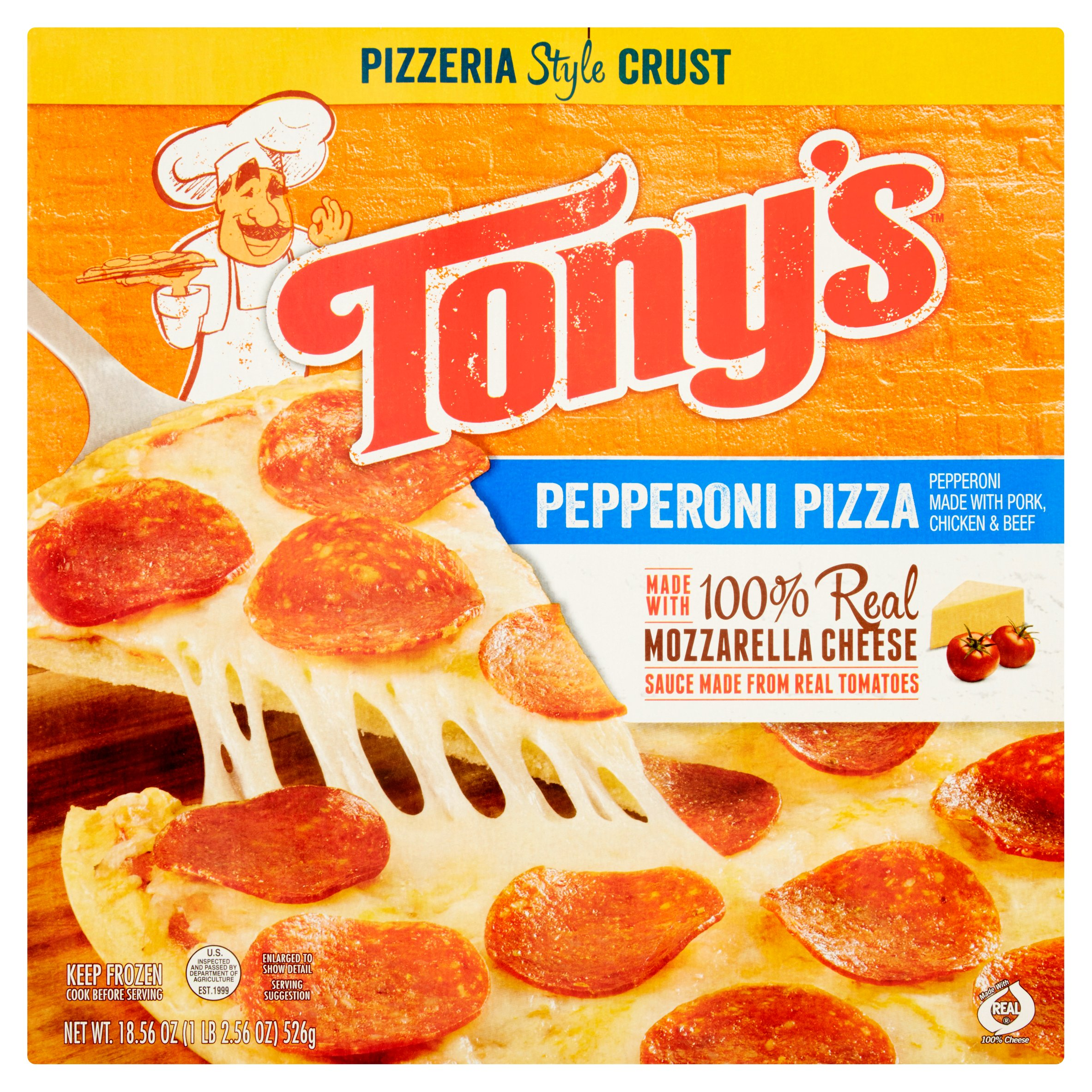 Tony's Pepperoni Pizza, 18.56 oz