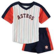 Houston Astros Infant The Lineup T-Shirt & Shorts Set - White/Orange