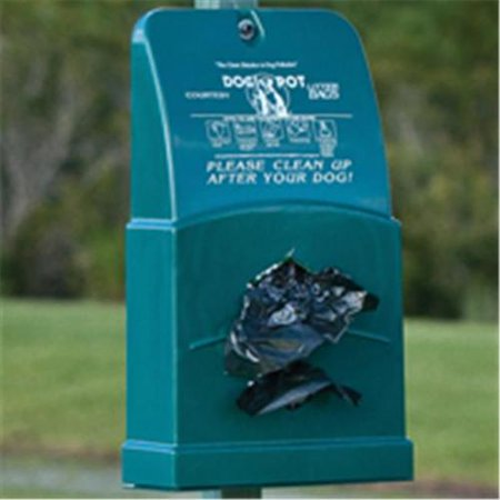 Dogipot 1007-2 Poly Junior Bag Dispenser, Forest Green