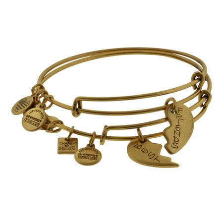 Alex And Ani Best Friends Set Of 2 Charm Bangle Bracelets   Cbd12bfrg