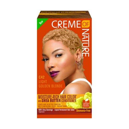 Golden Blonde Kit - Creme Of Nature Liquid Hair Color Kit Lt Golden Blonde