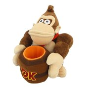 "For Nintendo Super Mario Donkey Kong Barrel Plush Toy, 8"""