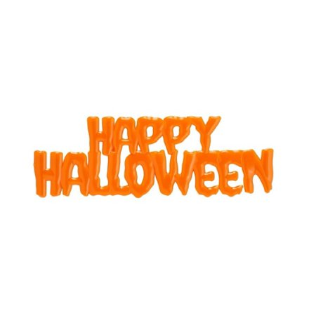 Orange Happy Halloween Drip Script Cake Toppers - 1 Piece - 21372O - National Cake Supply