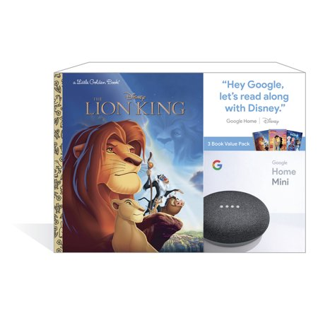 Google Home Mini (Charcoal) + 3 Disney Little Golden Book