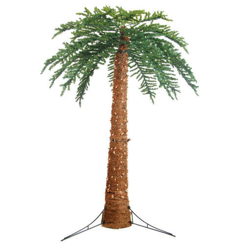 Sterling Inc. 10' Green Large Artificial Pre-Lit Palm Tree with 1100 Clear Lights
