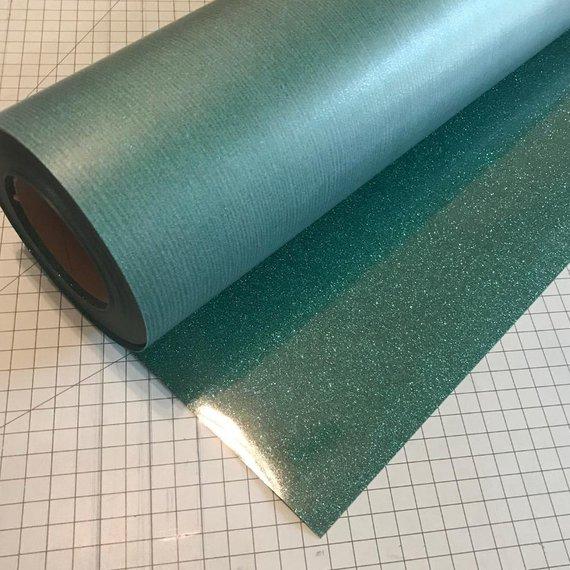 "Emerald Siser Glitter Three (3) 10""x12"" Sheets of Iron-on Heat Transfer Vinyl Sheets"