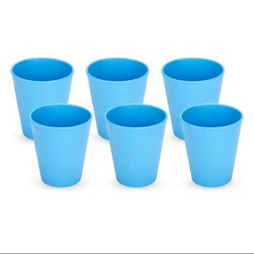 Green Eats Tumblers Drinking Cups, 6 Count, Orange/Blue/Green