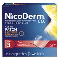 NicoDerm CQ Smoking Cessation Aid, Step 3, Clear, 7mg 14 ea(pack of 1)