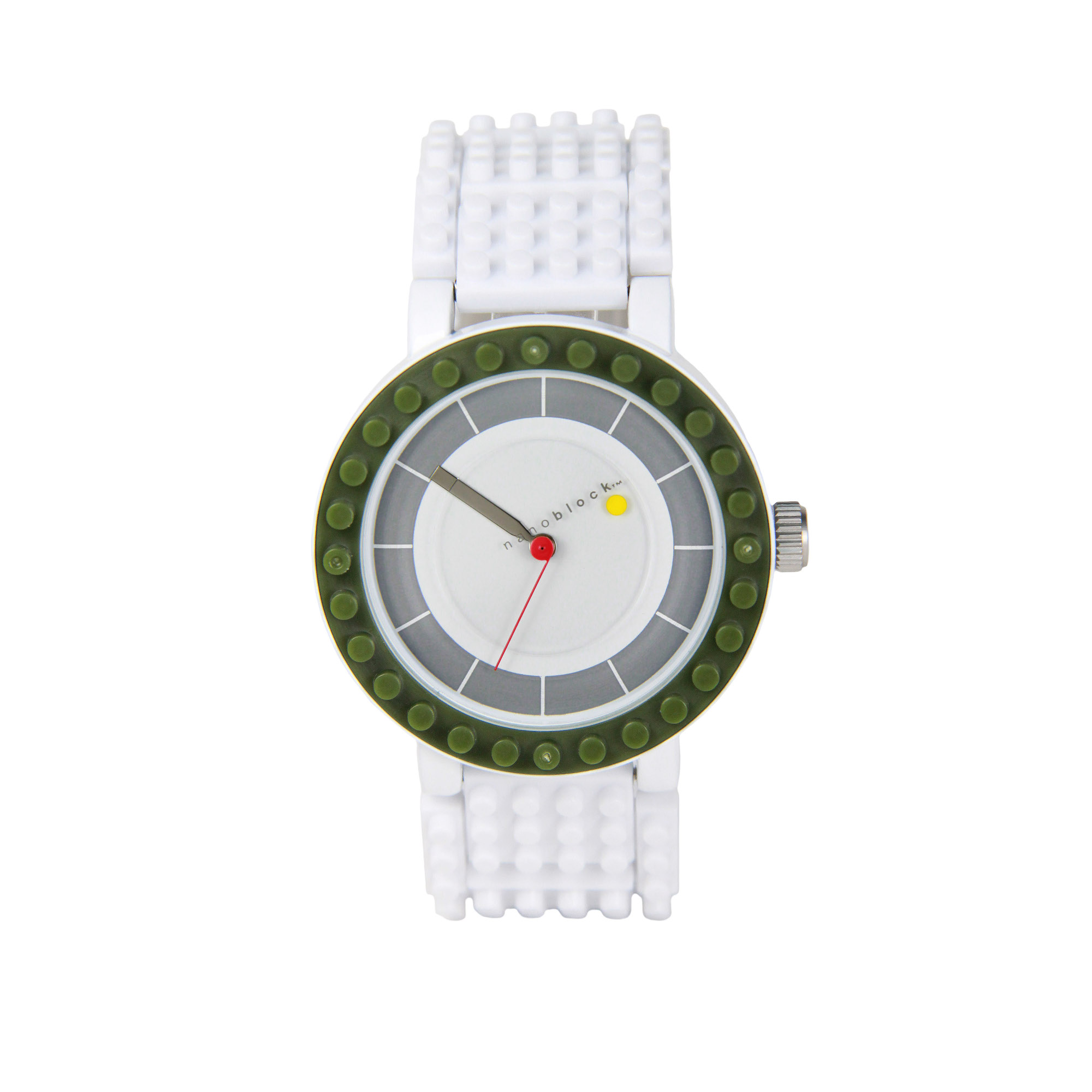 Nanoblocktime All Rounder Watch, Olive by Beta Enteprises Inc.