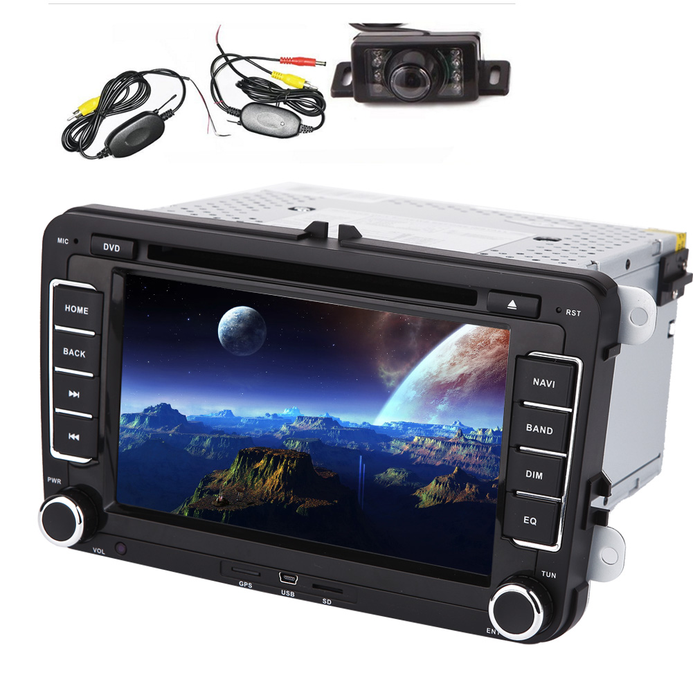 Car Headunit Stereo 2 Din Steering Wheel Control CANBUS G...