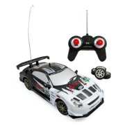 Super Fast Drift King R/C Sports Car Remote Control Drifting Race Car 1:24 + Headlights, Backlights, Side Lights + 2 Sets of Tires (Colors May Vary)