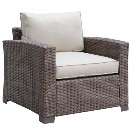 Furniture of Americ a Edyte Contemporary Brown Patio Arm (Contemporary Patio Furniture)