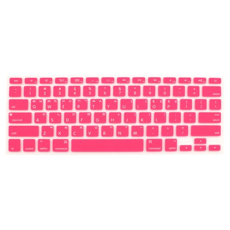 "Korean Silicone Keyboard Skin Cover Pink for Apple Macbook Air 13""15""17"" - image 2 de 2"
