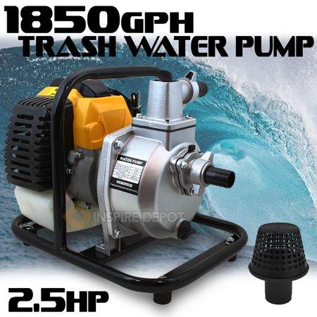 XtremepowerUS Portable 2.5HP Gas Water Pump Semi Trash 1.5