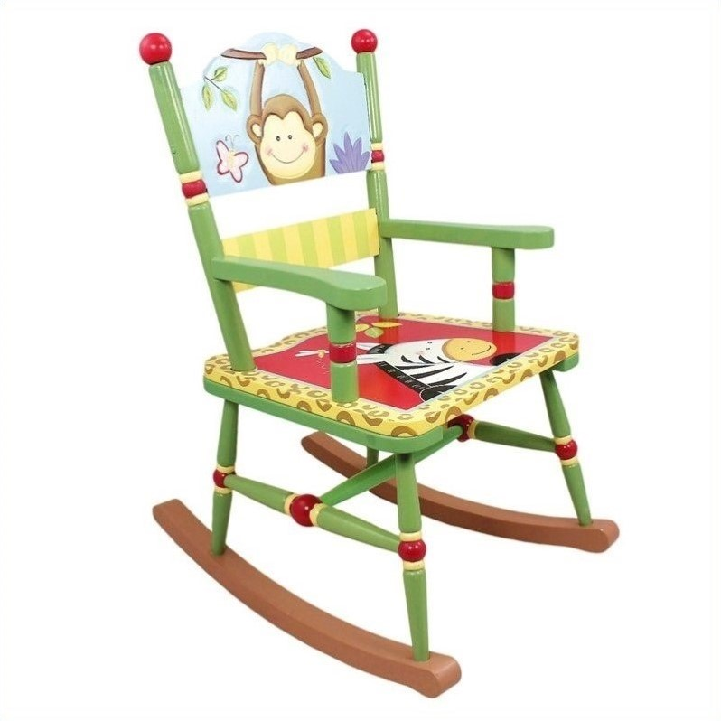 Fantasy Fields Kids Sunny Safari Rocking Chair