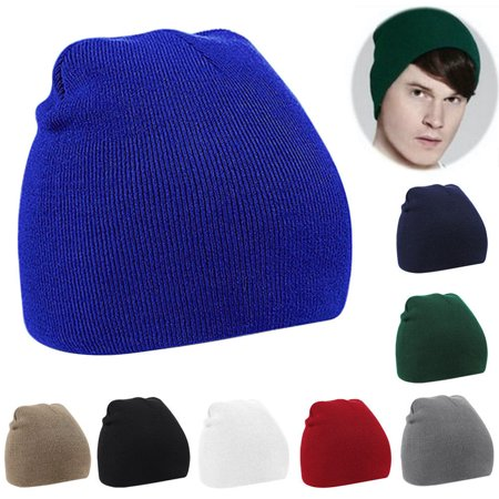 ce3a0ee63 Outdoor Men Women Casual Solid Color Knitted Winter Warm Short Beanie Ski  Hat