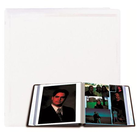 Pioneer X-Pando Post Bound, Magnetic Page Photo Album with Solid Color Covers & Gold Trim, Holds 20 11x11