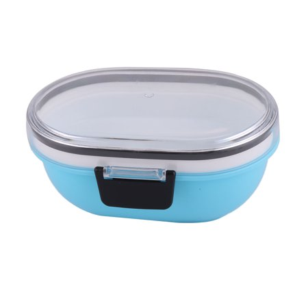 Travel Outside Plastic Oval Shaped Lunch Breakfast Food Holder Box Container - image 3 of 3