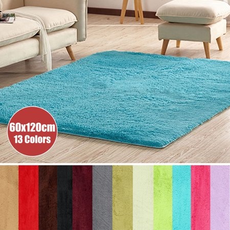 23x47'' 13 colors Modern Soft Fluffy Floor Rug Anti-skid Shag Shaggy Area Rug Home Bedroom Dining Room Warm Carpet Child Play Mat Yoga - Black Gold Carpet