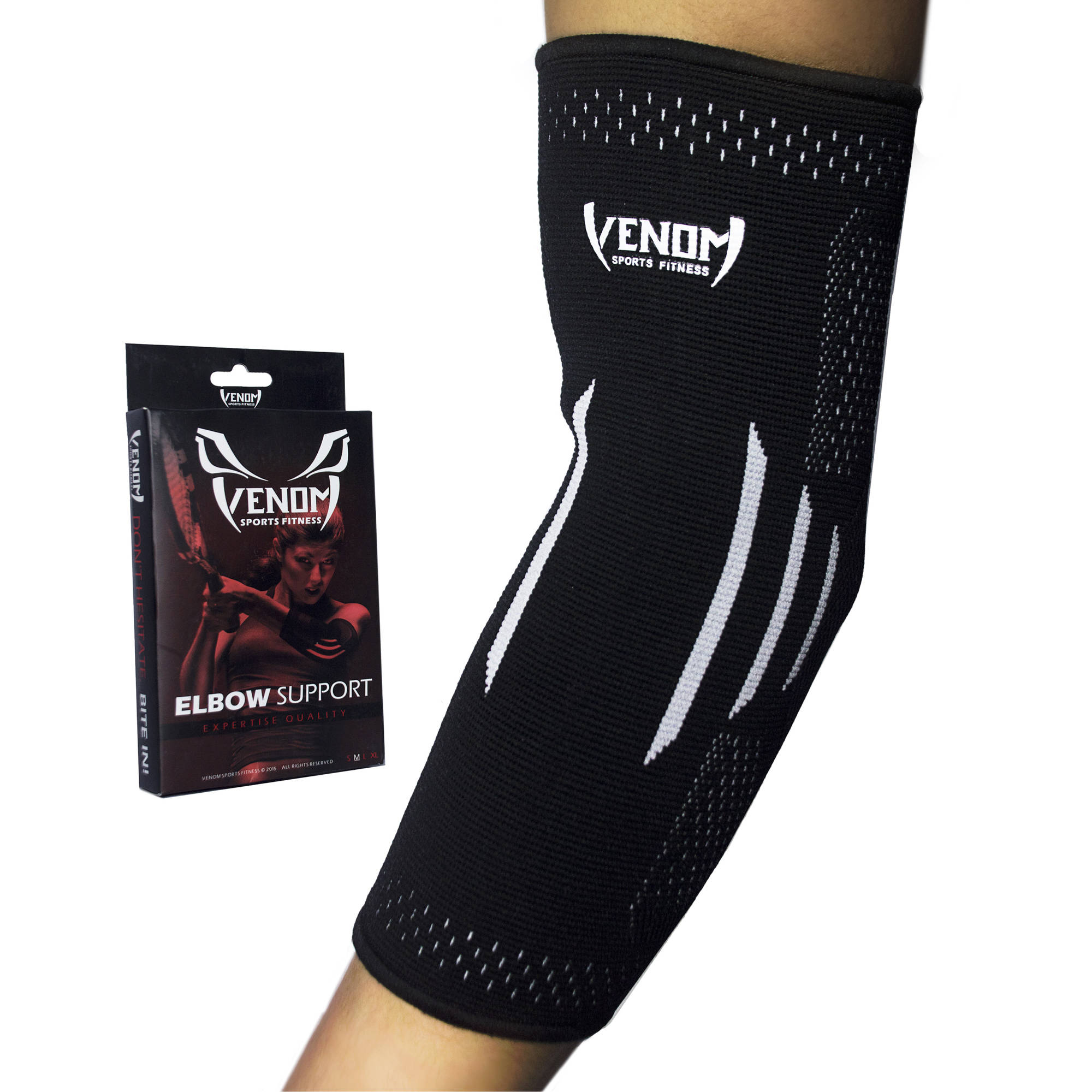 Venom Sports Fitness Elbow Brace Compression Sleeve Support