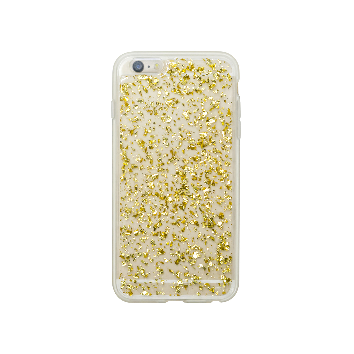 Onn Clear Case With Gold Flecks For Iphone 6 Plus/6S Plus