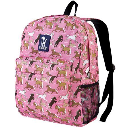 Wildkin Horses in Pink 16 Inch Backpack - Sequin Pink Backpack