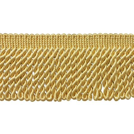Housing 3 Light Trim - 3 Inch Long LIGHT GOLD Bullion Fringe Trim, Style# BFS3 Color: B7, Sold By the Yard