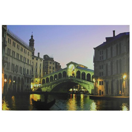 - LED Lighted Venice, Italy Grand Canal Canvas Wall Art 15.75
