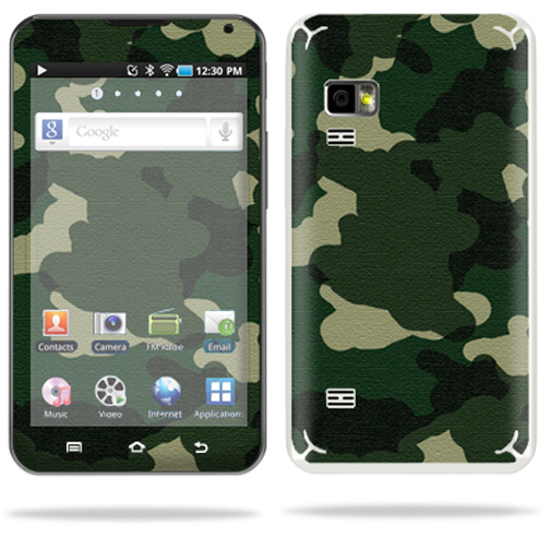Mightyskins Protective Vinyl Skin Decal Cover for Samsung Galaxy Player 5.0 MP3 Player Android WiFi wrap sticker skins Green Camo