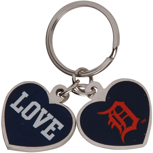 Detroit Tigers Love Keychain - Navy Blue - No Size